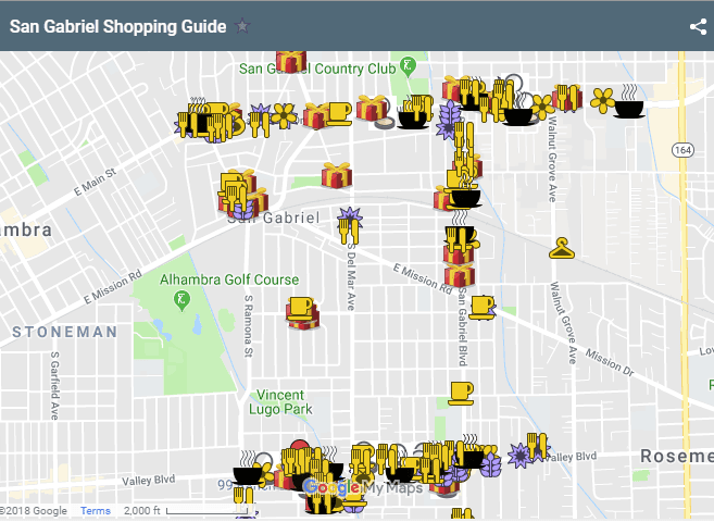 SG Shopping Guide Map 2018